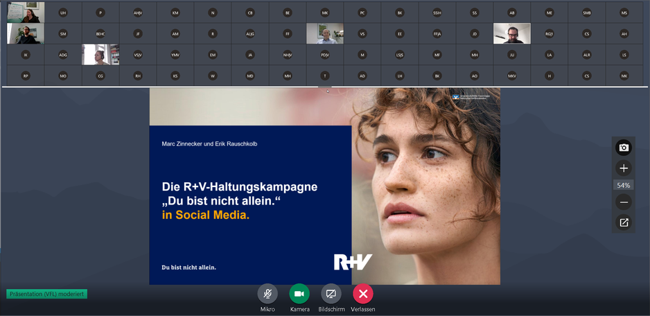 """R+V Haltungskampagne """"Du bist nicht allein"""""""