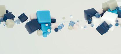 blaue Würfel