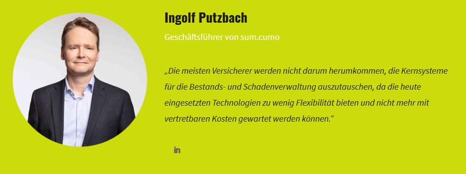 Zitat von Ingolf Putzbach, Geschäftsführer sum.cumo