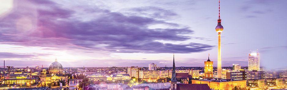 Bild das die Skyline von Berlin zeigt