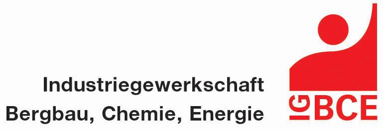 Das Logo von der Industriegewerkschaft Bergbau, Chemie, Energie