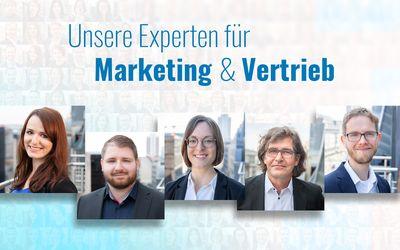 Das sind WIR – Unser Kompetenzteam Marketing & Vertrieb
