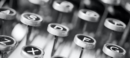 Arbeitswelten im Wandel schreibmaschine