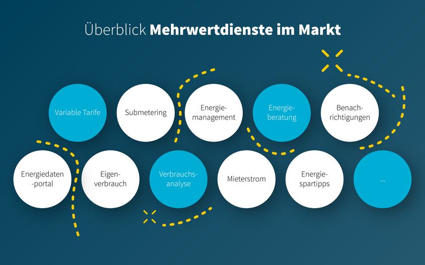 Überblick der Mehrwertdienste im Markt