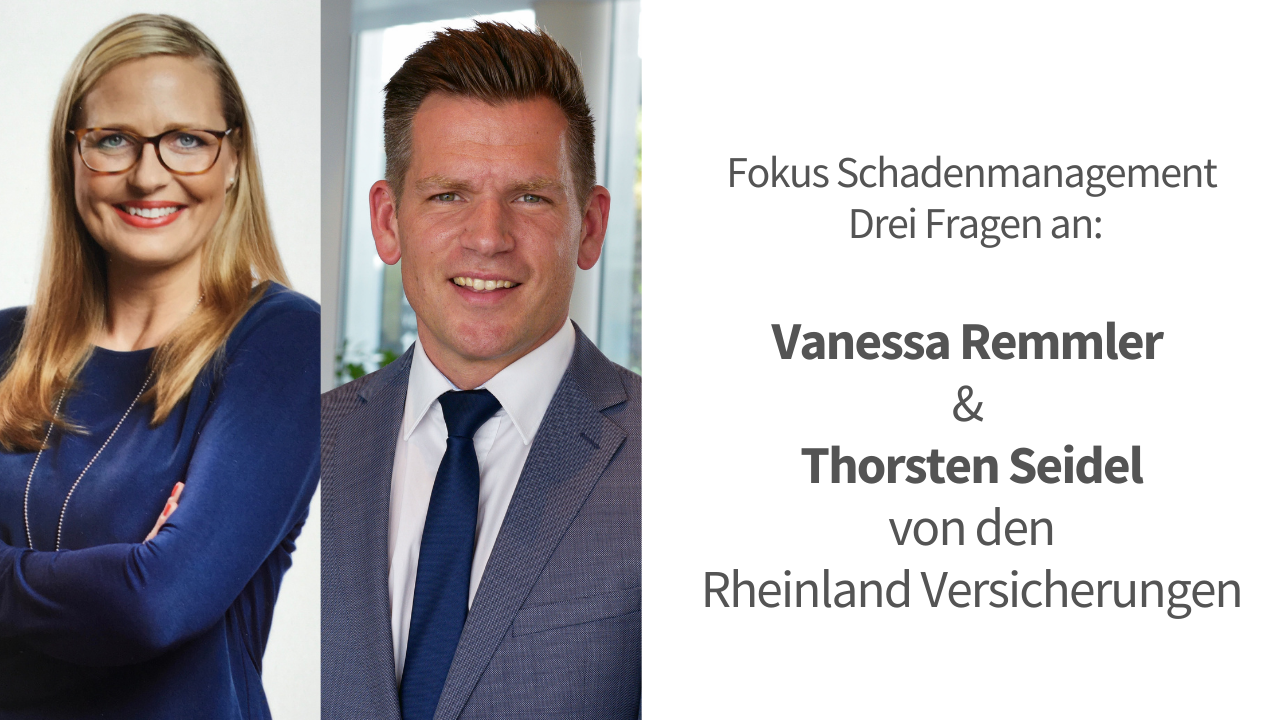 Drei Fragen an die Schadenexperten von den Rheinland Versicherungen