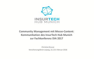 Community Management mit Messe-Content: Ein Praxisbericht des InsurTechHub Munich