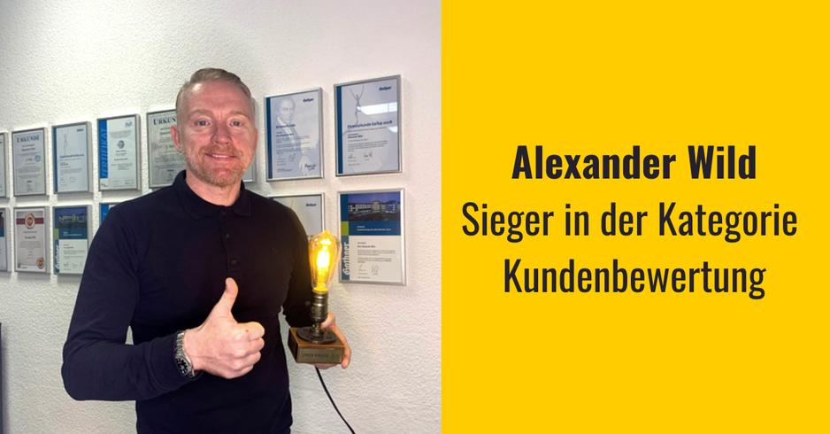 OMGV Award Sieger Alexander Wild