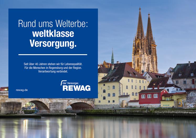 Imagebild der REWAG, was einen Teil der Stadt zeigt